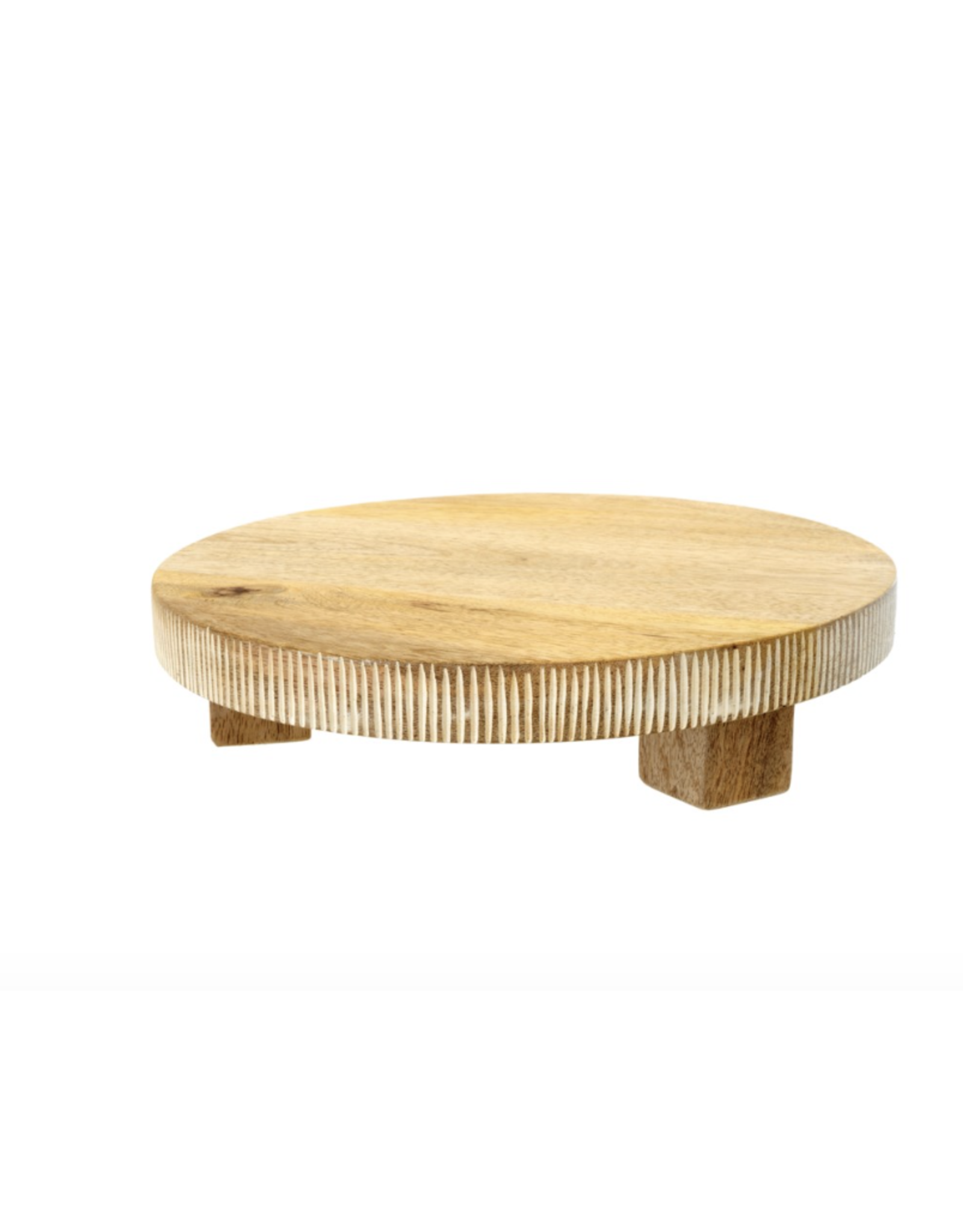 Lucca Round Footed Charcuterie Board