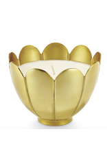 Fresh Sea Salt - Lg Brass Lotus Candle