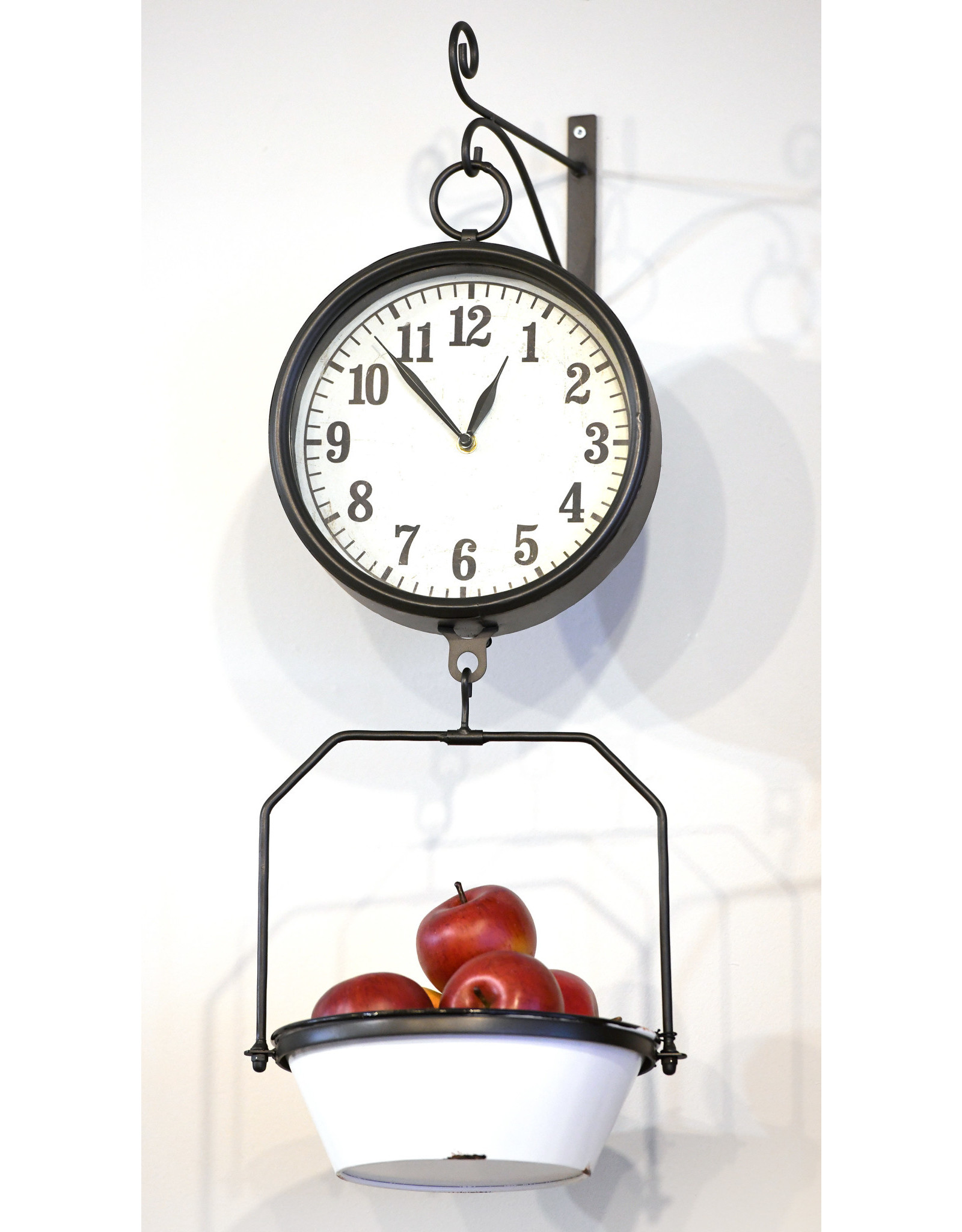 Hangng Clock with Decorative Scale