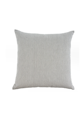 Ticking Cushion, Black 24x24