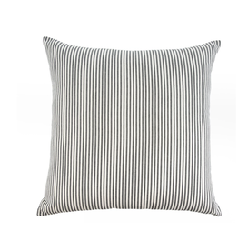 Ticking Cushion, Black 24x24