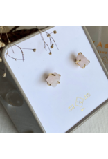 Vanessa Raw Quartz Crystal Stud Earrings