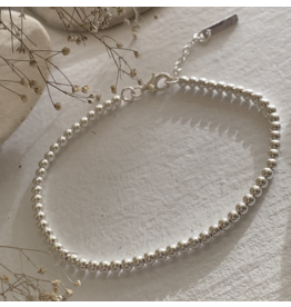 Nala Sterling Silver Spinning Ball Beaded Bracelet