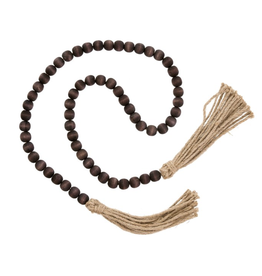 Tassel Prayer Beads - Brown