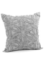 Floral motif Cushion Grey