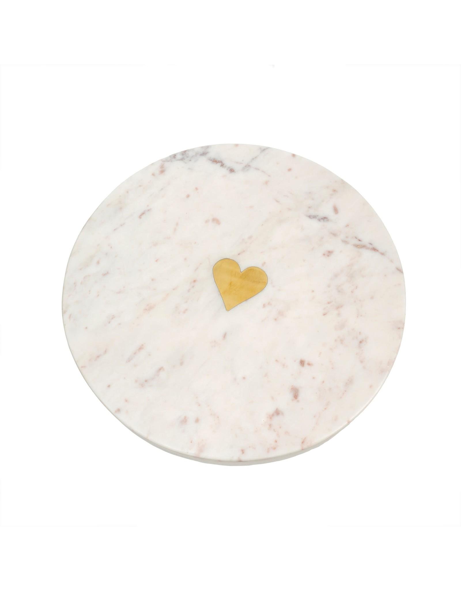 Sweet Heart marble  serving board