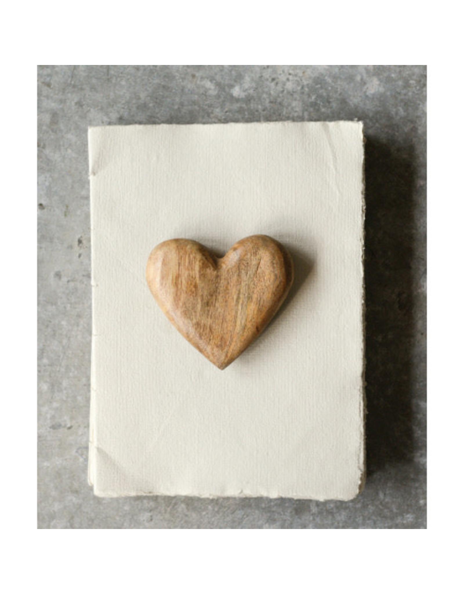 Hand-Carved Mango Wood Heart