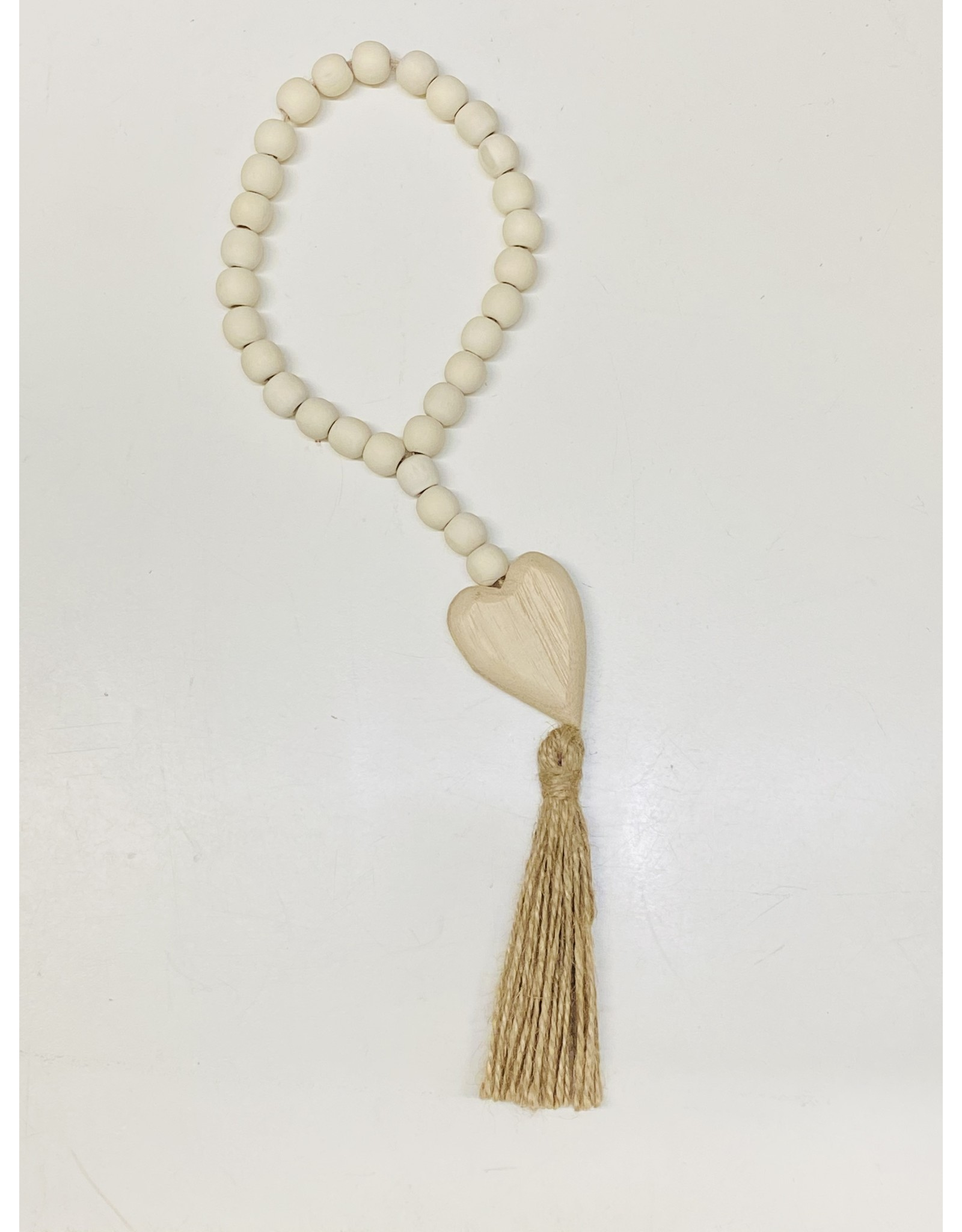 Prayer Beads with Heart and Tassel