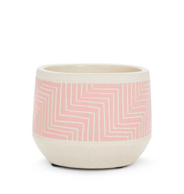 """Pink Etched Planter 5"""""""