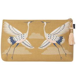 Flight of Fancy Linen Cosmetic  Bag -Large