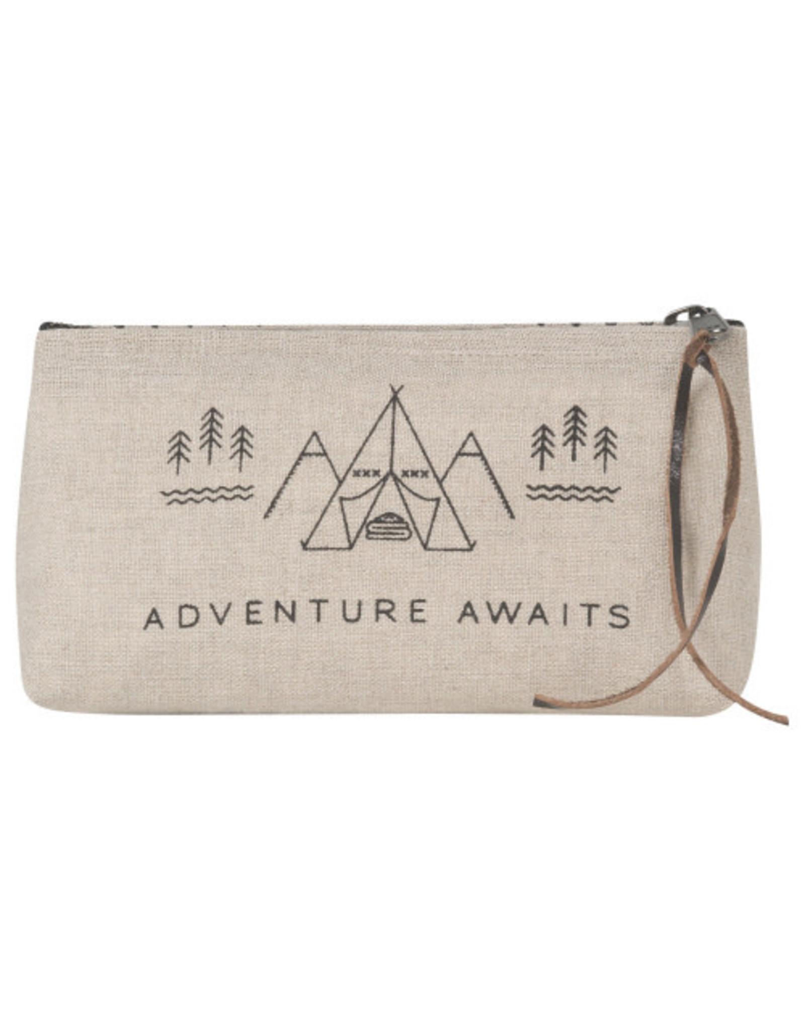 Adventure Awaits Cosmetic Bag Pencil