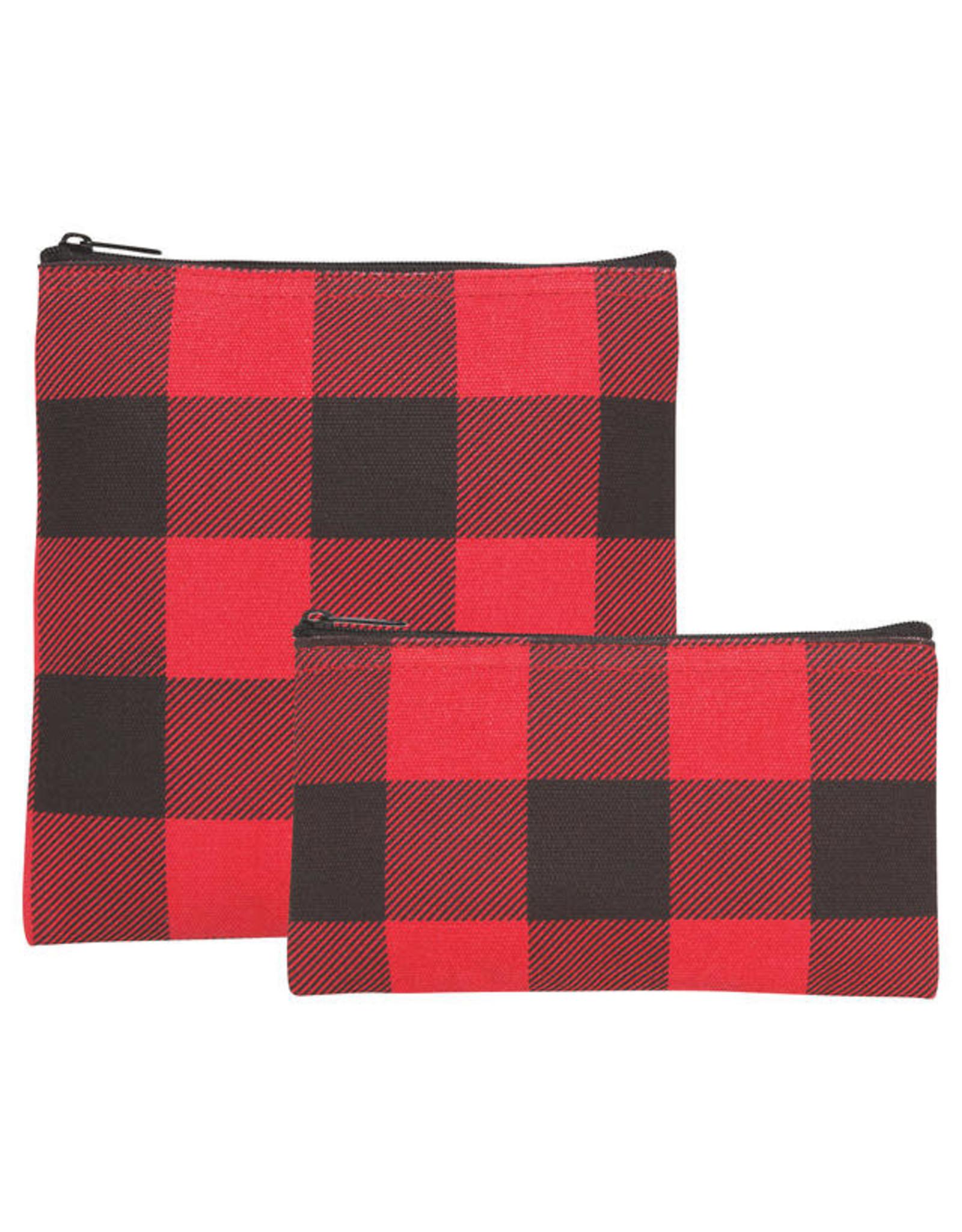 Buffalo Check Snack Bags Set of 2