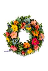 "Rustic Flower Wreath - 13"""