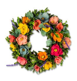 Rustic Flower Wreath - 13""