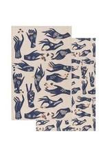 Show of Hands Tea Towel  Set of 2