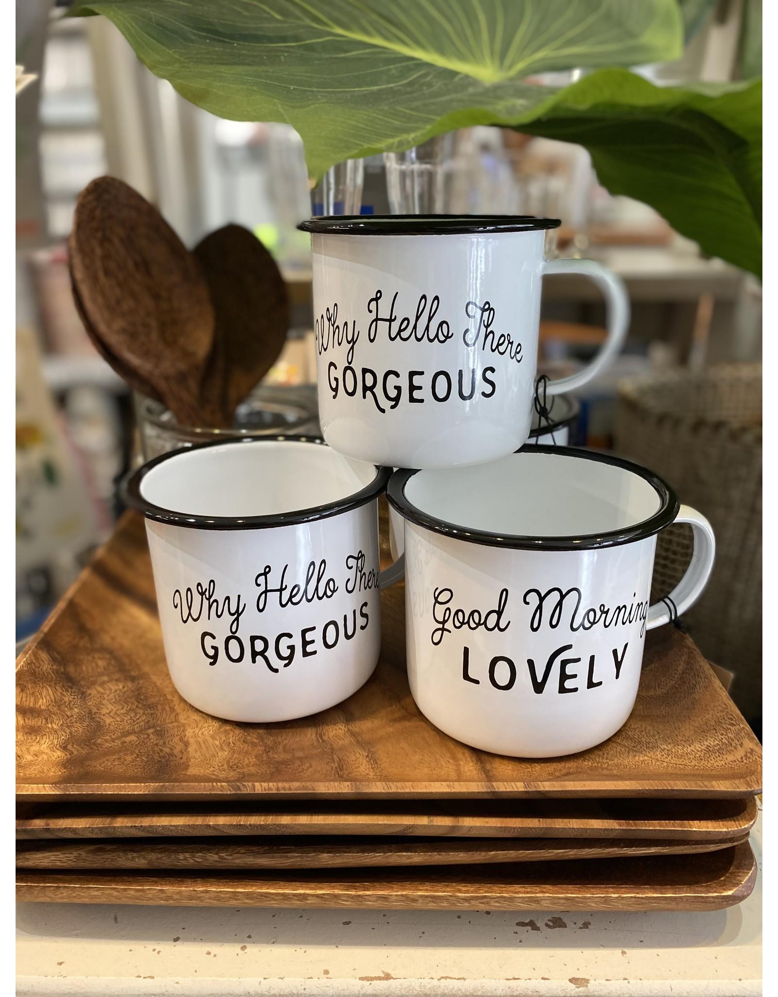 Enamel Mug with Saying