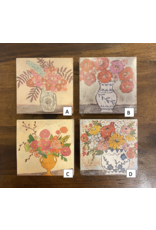 Wooden Matches in Floral Box