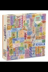 Vintage Travel Tickets 500 Piece Puzzle