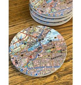 Local Map Coasters - Set of 4