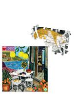 eeBoo Cats in Positano 1000 piece puzzle