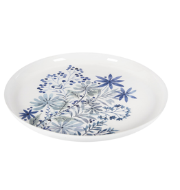 """Blue Floral Tray 15"""""""