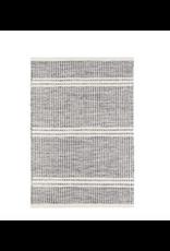 Dash & Albert Malta Grey Woven Wool Rug 2 x 3
