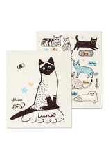 Cats with Names Dishcloth S/2