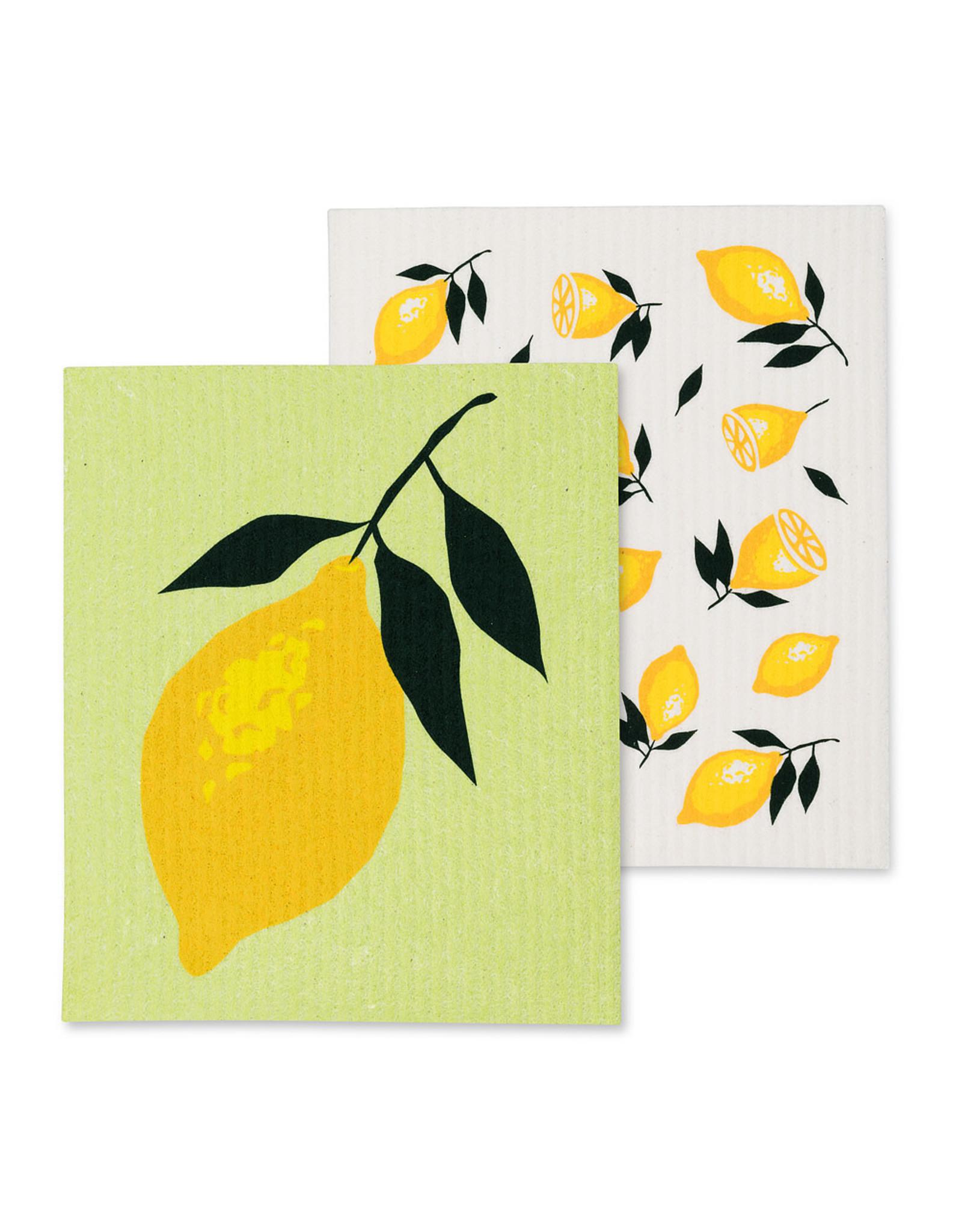 Lemon Swedish Dishcloths S/2