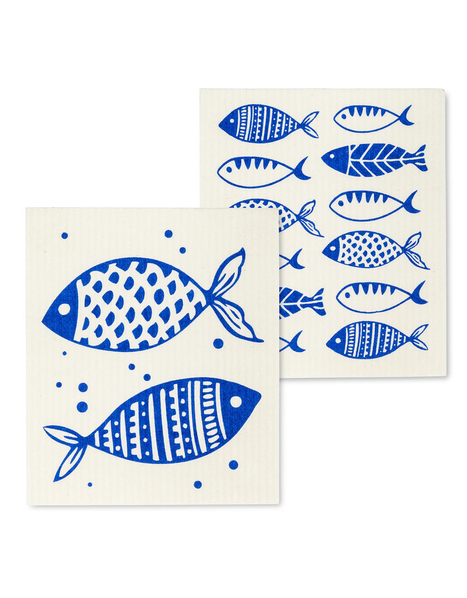 Blue Fish Swedish Dishcloth S/2