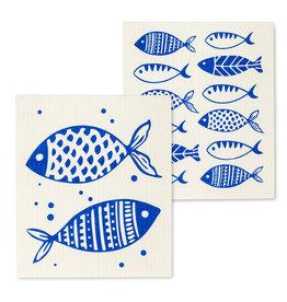 Blue Fish Dishcloth S/2