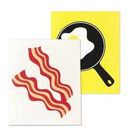 Bacon & Eggs Dishcloths S/2