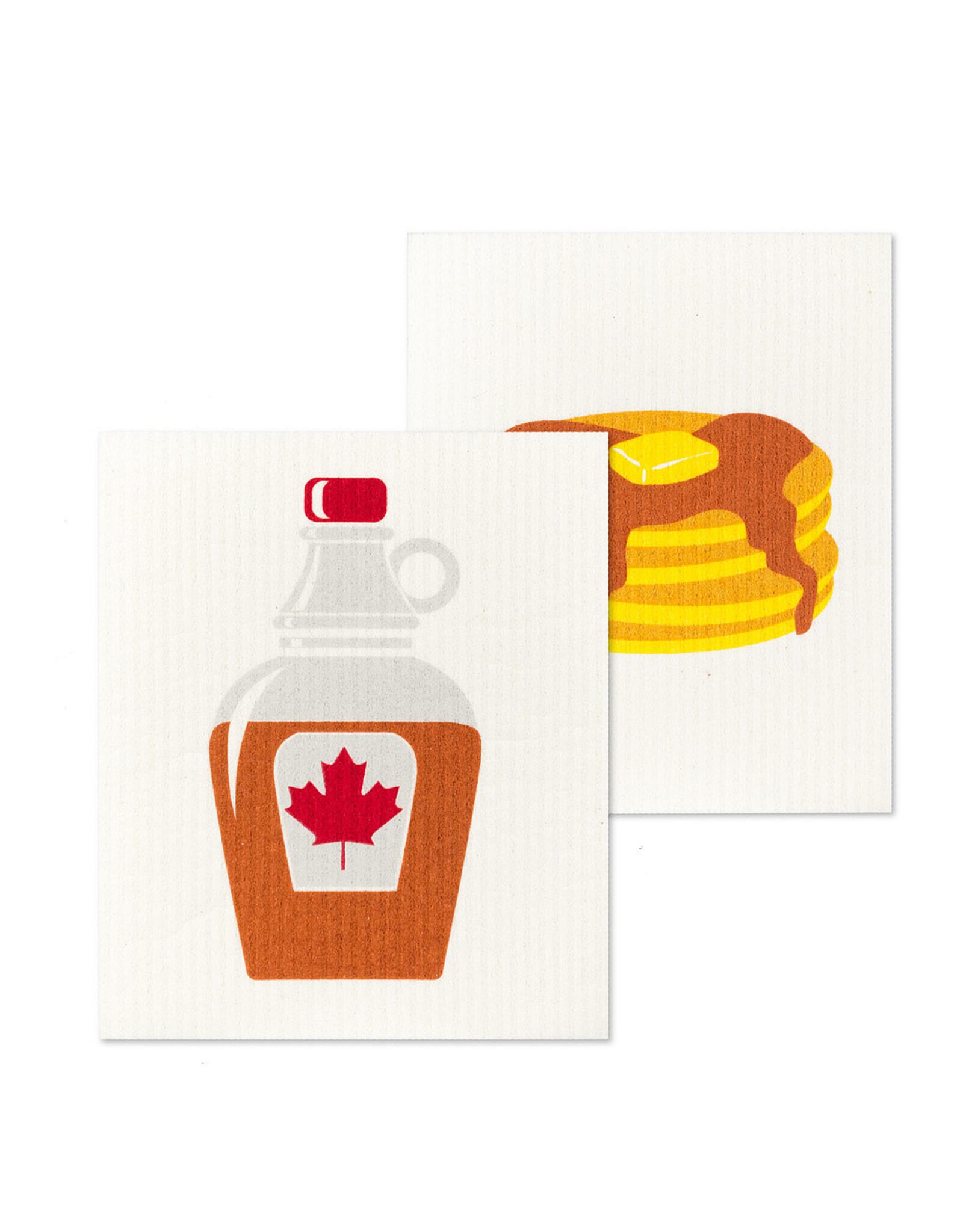 Pancake & Syrup Dishcloths S/2