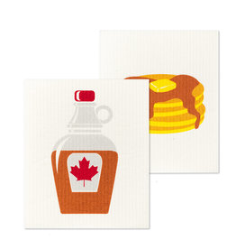Pancake & Syrup Swedish Dishcloths S/2