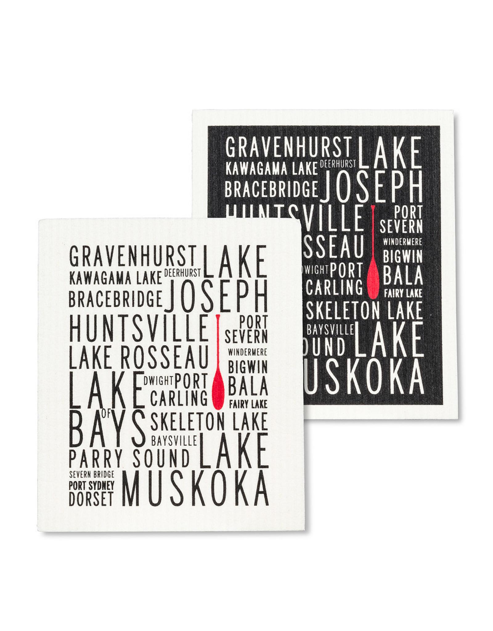 Muskoka Lakes Swedish Dishcloths S/2