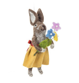 Rabbit Holding Flowers