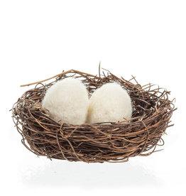 Nest with Felt Eggs