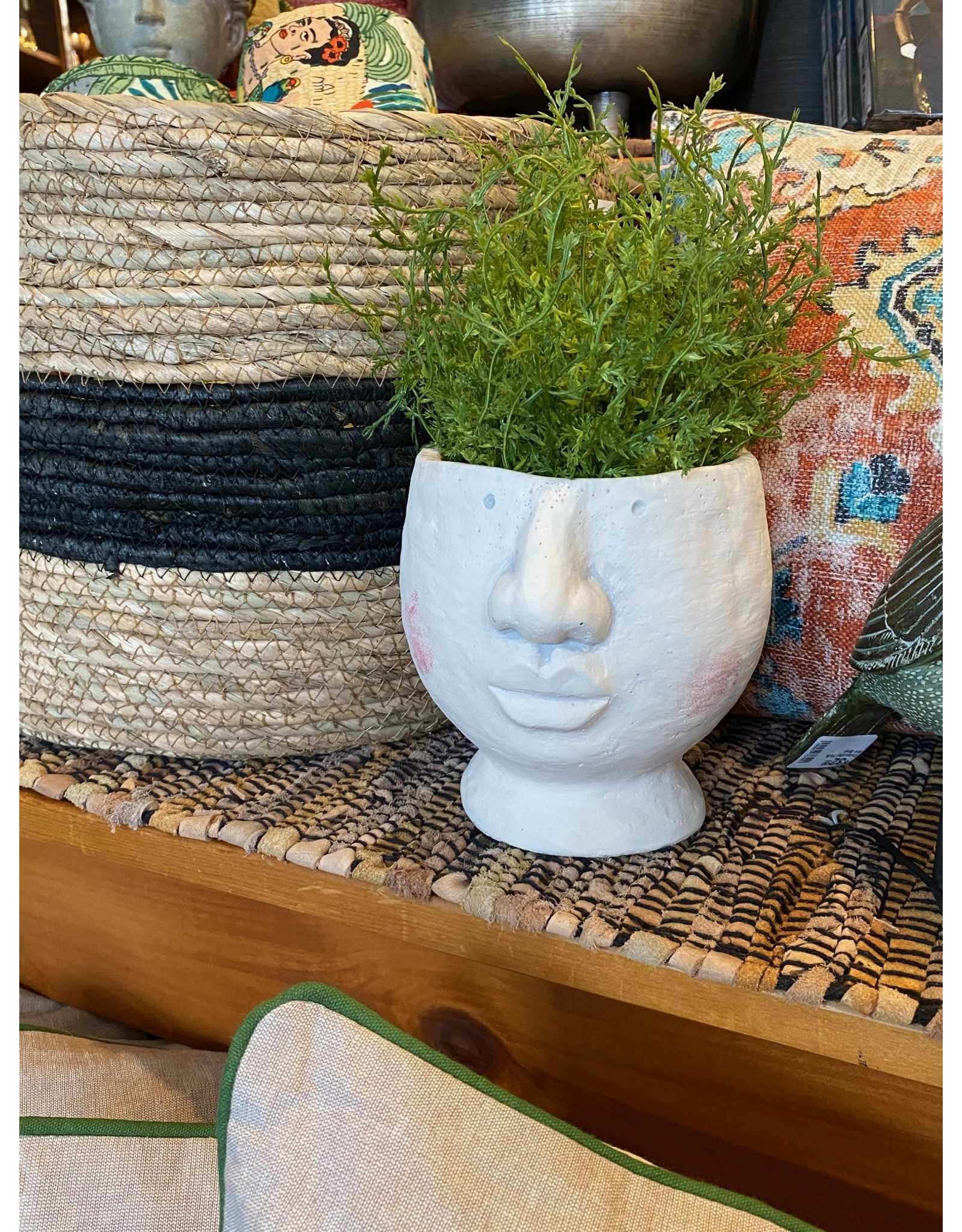 "Rosy Cheeks Face Planter - 6""H"