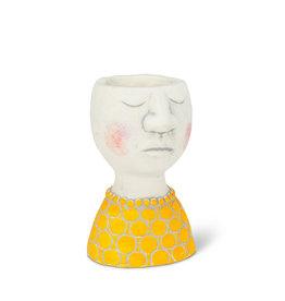 "Lady Head Planter Pot - 6""H"
