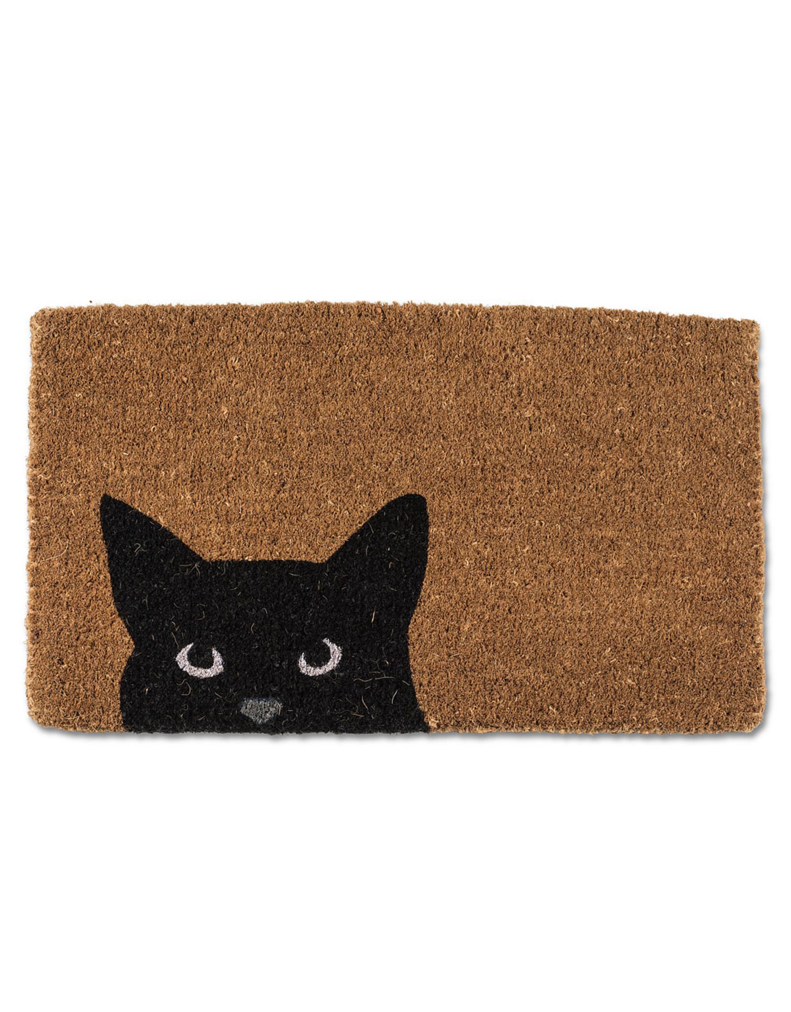 Peeking Cat Doormat
