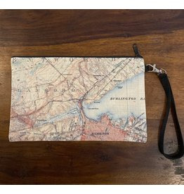 Local Map Zipper Pouch- Hamilton