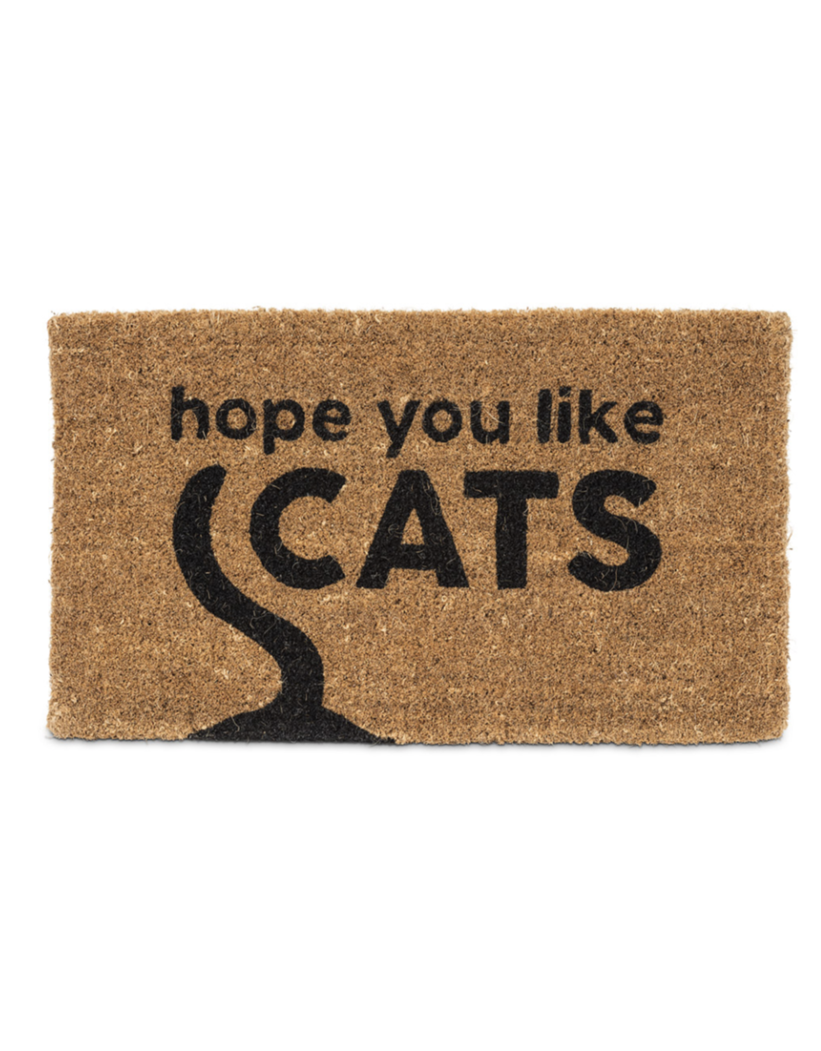 Hope You Like Cats Graphic Doormat