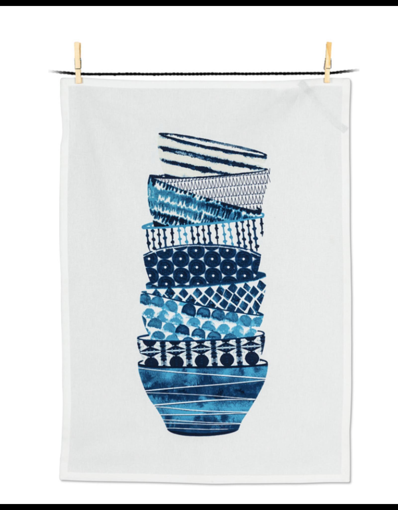 Stacked Bowls Tea Towel