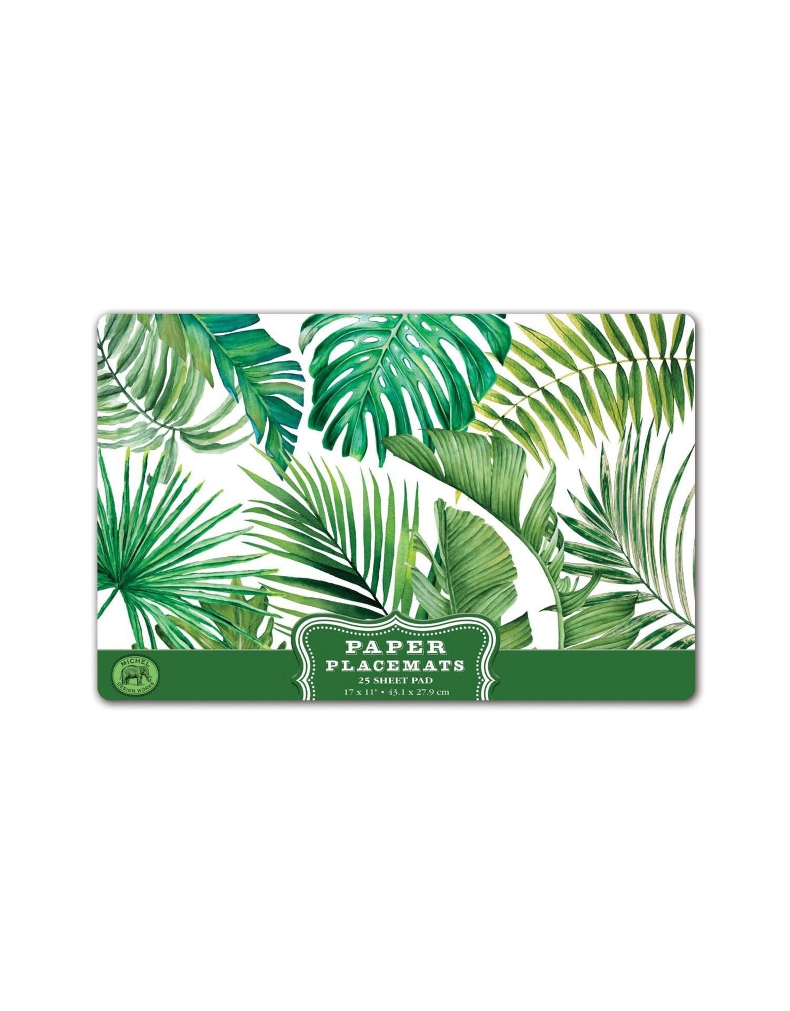 Michel Palm Breeze Paper Placemats