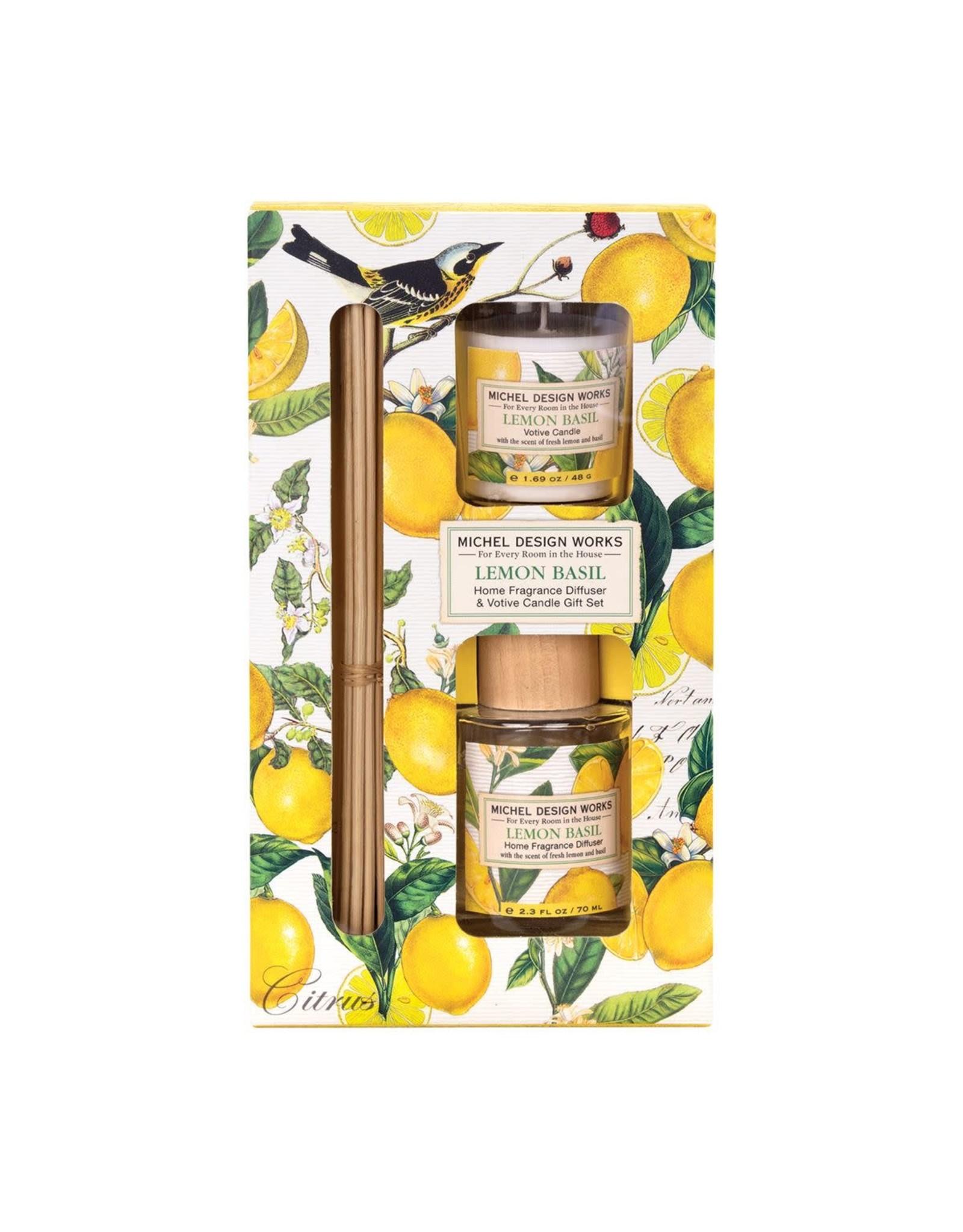 Michel Design Michel lemon Basil Diffuser & Votive Candle Set