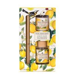 Michel lemon Basil Diffuser & Votive Candle Set