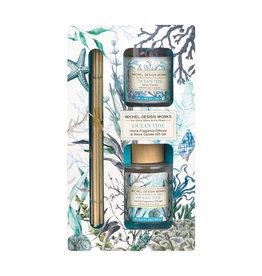 Michel Ocean Tide Diffuser & Votive Candle Set
