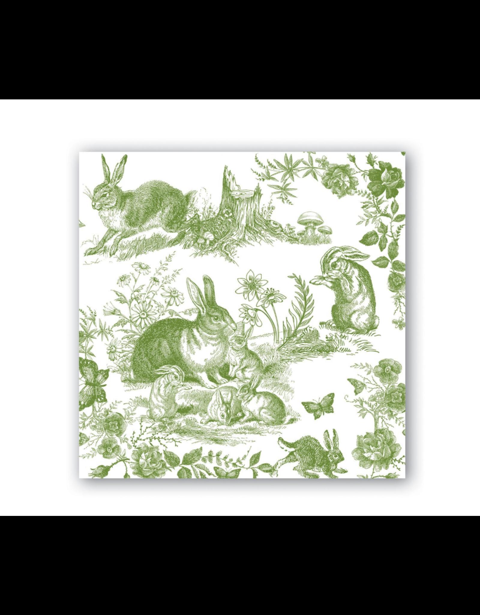 Michel Design Paper Napkins - Bunny Toile Luncheon