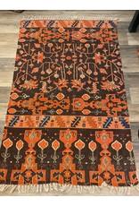 Woven Cotton Printed Rug Multicolour 4' x 6'