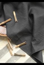 Pleated Linen Tea Towel - Black