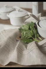 Pleated Linen Tea Towel - Natural